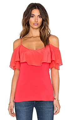 Belle Ruffle Top in Chili