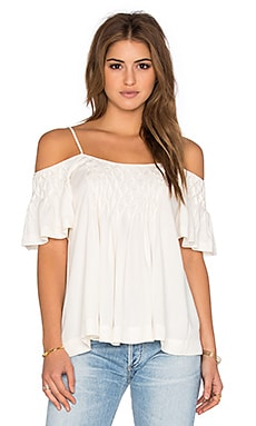 Ella Moss Stella Cold Shoulder Tank in Natural