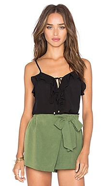 Nete Ruffle Tank in Black