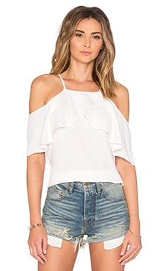 Stella Cold Shoulder Top en Blanco