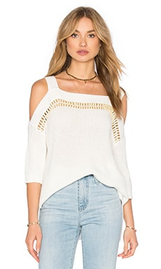 Ella Moss Jordin Cold Shoulder Top in White