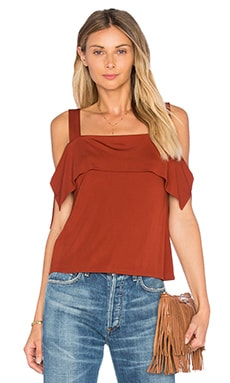 Ella Moss Thabo Cold Shoulder Top in Bombay