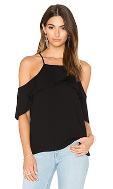 Stella Cold Shoulder Top en Noir