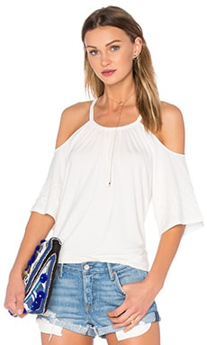 Bella Cold Shoulder Top em Natural