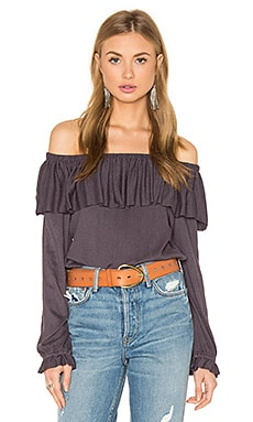 Ella Moss Gioannia Off Shoulder Top in Lilac