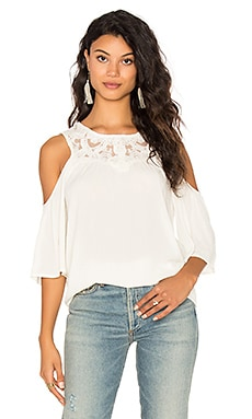 Olivier Cold Shoulder Top en Naturel