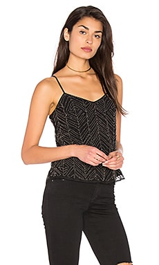 Frances Beaded Mesh Cami en Negro