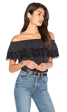 Isabella Off Shoulder Top in Black