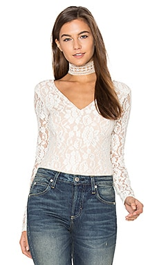 Trello Lace Bodysuit in Ivory
