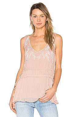 Trellis Vine Top en Faded Blush