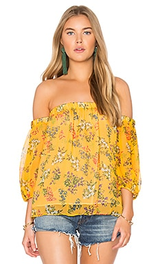 Poetic Garden Top in Mustard