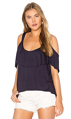 Bella Cold Shoulder Top in Navy