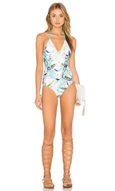 Birds of Paradise One Piece Swimsuit in Multi