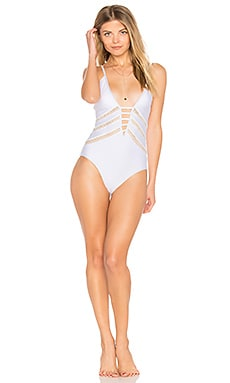 Juliet Solids One Piece in White