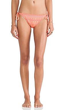 Ella Moss Tie Side Bikini Bottoms in Pink
