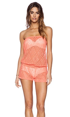 Ella Moss Primrose Romper in Orange