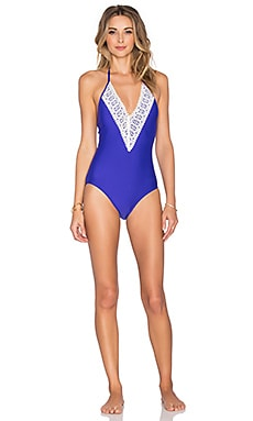 Ella Moss Stella One Piece Swimsuit in Purple