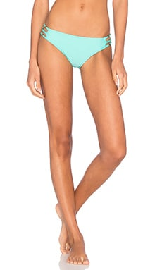 Stella Side Strap Bikini Bottom in Aqua