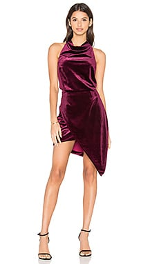 x REVOLVE Velvet Camo Mini Dress in Burgundy