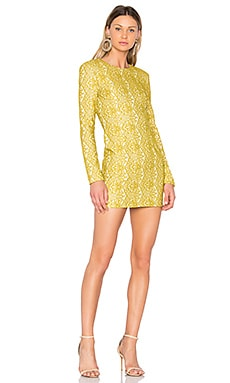 Delirium Mini Dress in Citron