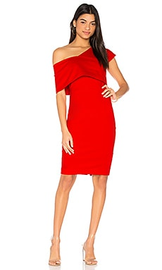 Emulate Dress in Flame Red