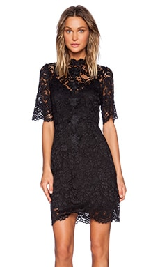 ELLIATT Range Lace Dress in Black