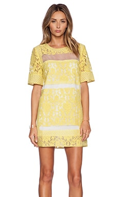Eccentric Lace Dress in Citrus