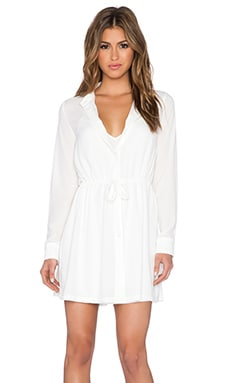 ELLIATT Sunrise Shirt Dress in White