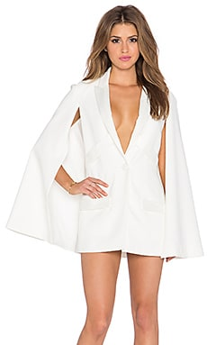 Colosseum Cape Dress in White