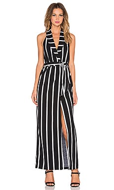 ELLIATT Origins Maxi Dress in Monochrome Stripe