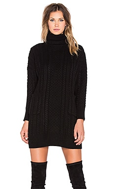 Pleasure Knit Dress in Black