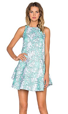 Away Dress in Emerald Floral