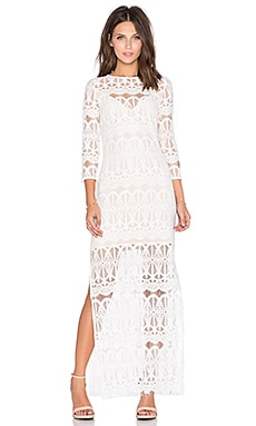 Plazza Maxi Dress in White