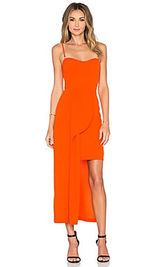 Exotic Dress in Burnt Orange