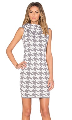 ELLIATT Power Dress in Grey & White