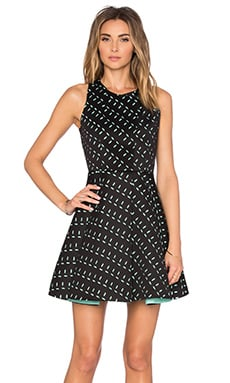 ELLIATT Forces Dress in Black & Teal