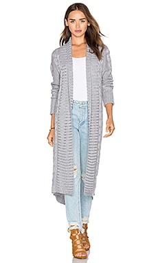 ELLIATT Anthropology Cardigan in Cool Grey