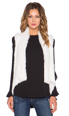 ELLIATT Viewing Rabbit Fur Vest in White