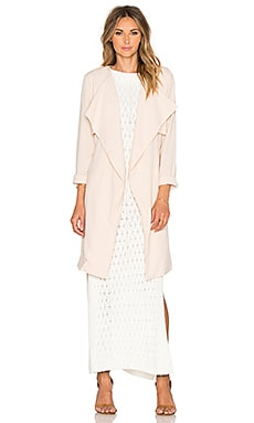 Harp Trench Coat in Blush