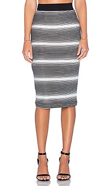 ELLIATT Expression Skirt in Monochrome Stripe