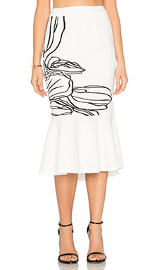 Abstract Skirt in Monochrome