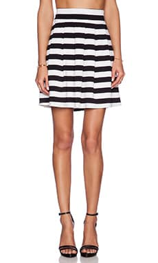 ELLIATT Eclipse Skirt in Black & White Stripe