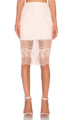 ELLIATT Mood Lace Skirt in Peach