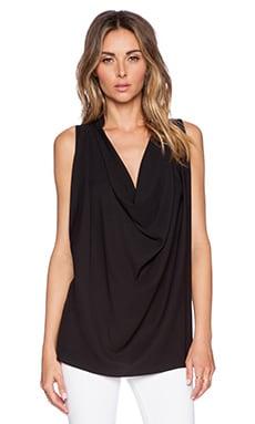 ELLIATT Serene Drape Shirt in Black