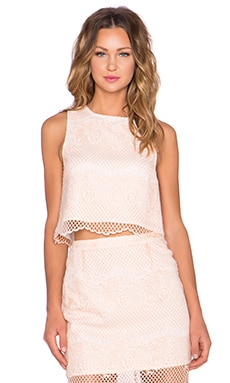 ELLIATT Mood Lace Top in Peach