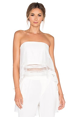 ELLIATT Crested Tube Top in White