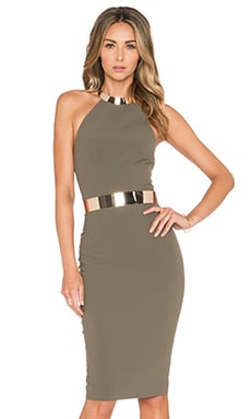 Elle Zeitoune Pascale Dress in Khaki