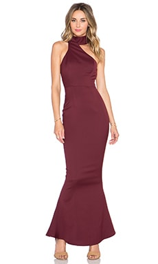 Elle Zeitoune LUXE Bettina Dress in Maroon