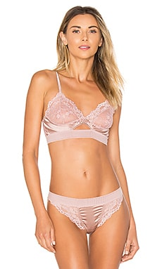 Lilly Silk & Lace Triangle Soft Cup Cut Out Bra