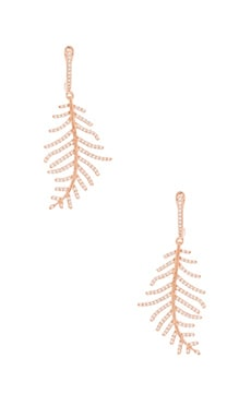 Leaf Earring en Or Rose